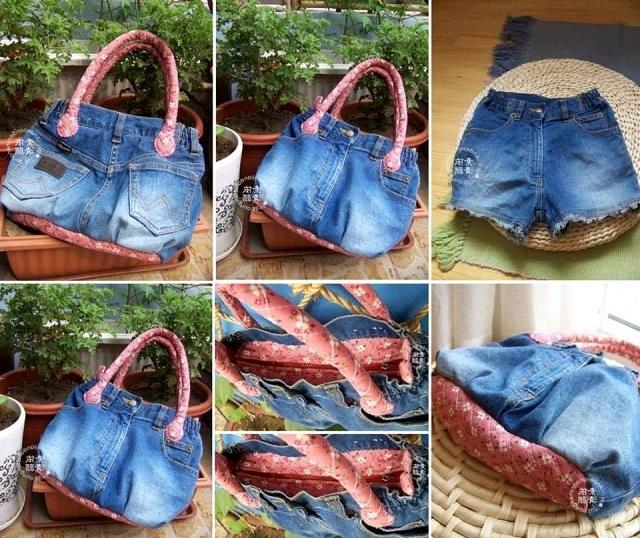 df36403a53e9f0 Сумку і рюкзак з старих джинсів. Ідеї і викрійки зробити своїми руками з  джинс.