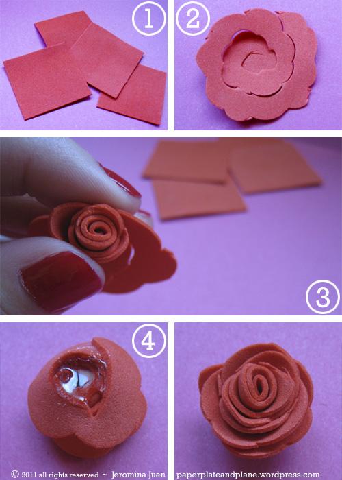 Розы из фоамирана своими руками с пошаговым фото