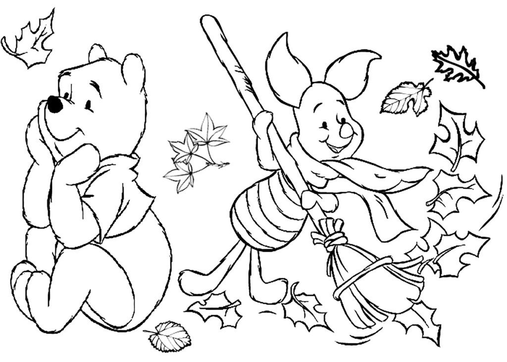 childrens fall coloring pages - photo#6